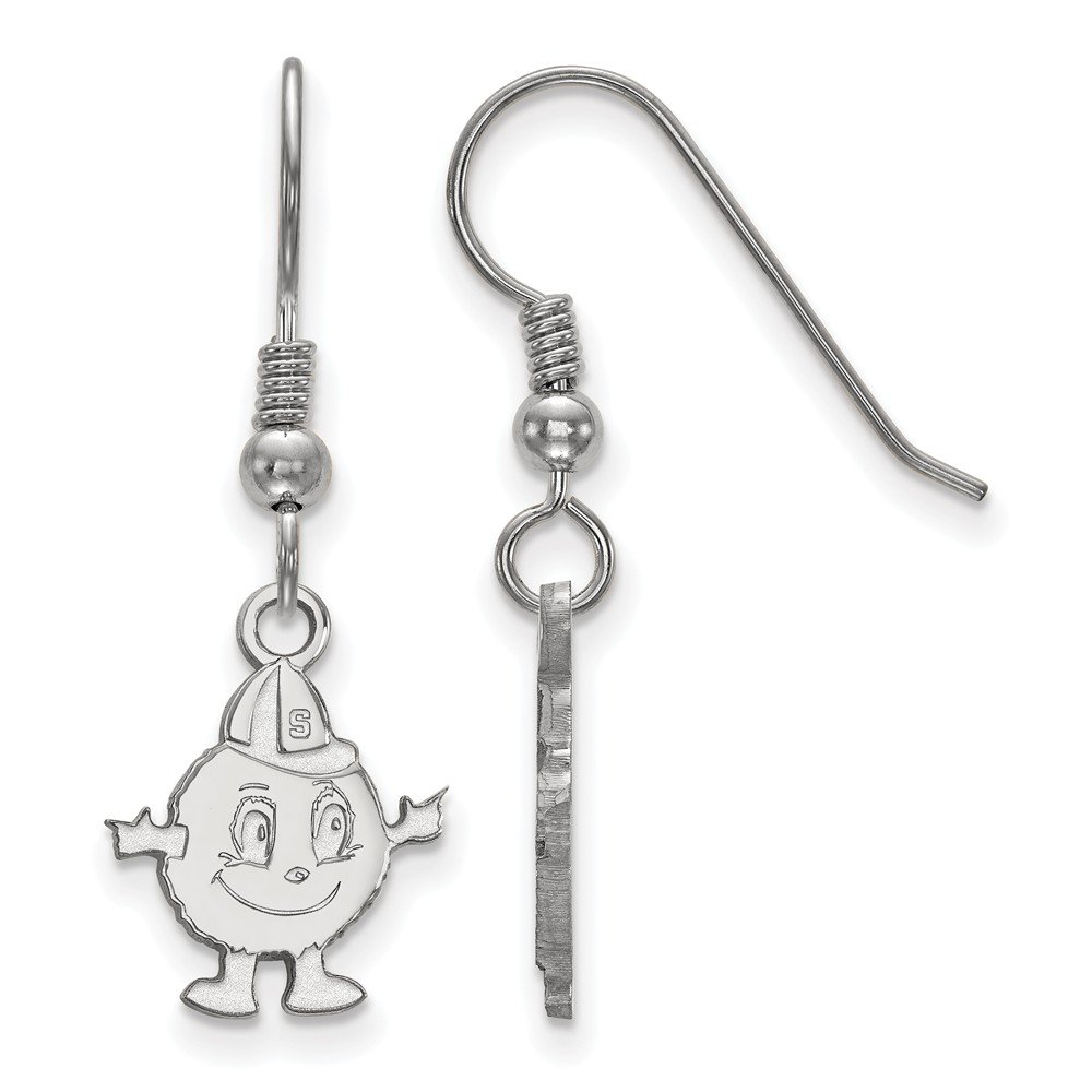 925 Sterling Silver LogoArt Syracuse University Small Dangle Earrings