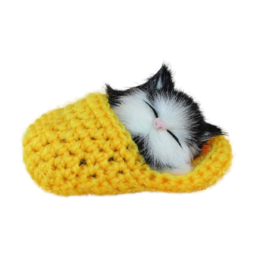 Blue Anniston Kids Toys Cute Sleeping Cat Slippers Sounding Simulation Plush Animal Toy Decor Kids Gift Dolls Stuffed Toys for Baby Children Toddlers Boys /& Girls