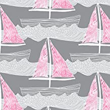 Sailing Orchid Ombre by emilysanford - Custom Fabric with Spoonflower - Printed on Fleece Fabric by the Yard