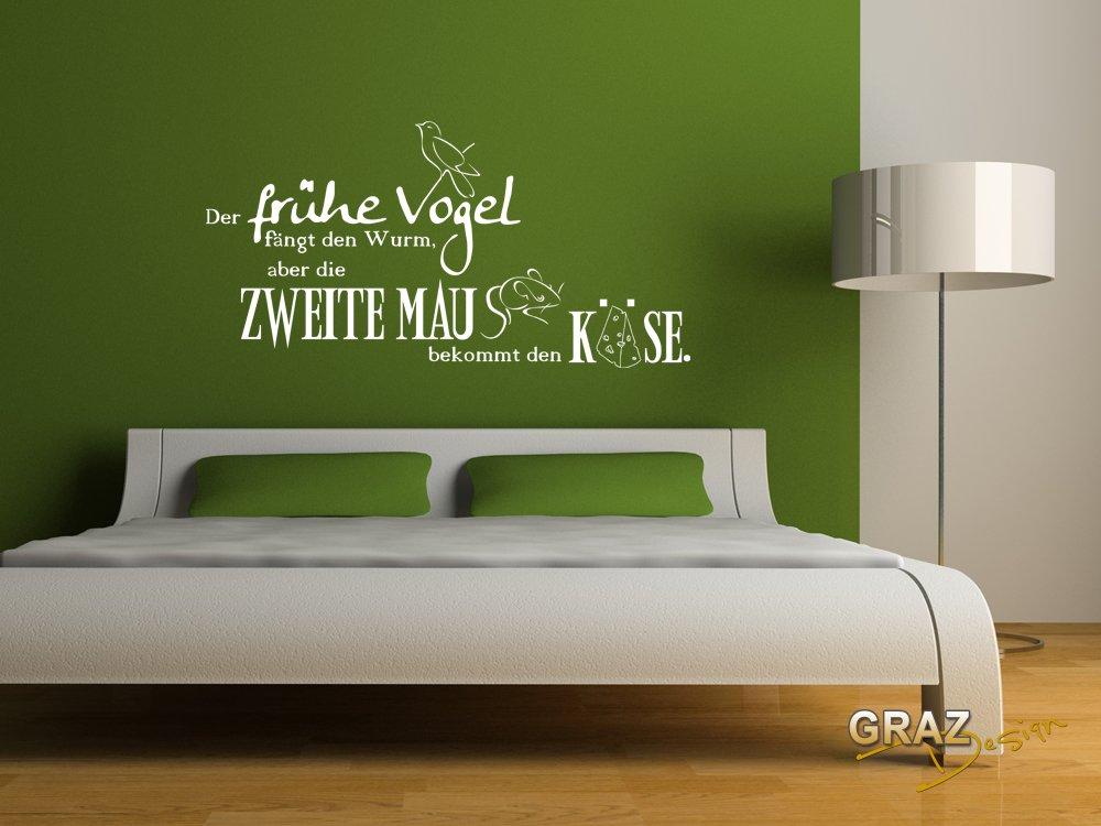 Wandtattoo Deko Schlafzimmer Ideen Wandsticker Wand Der frühe Vogel ...