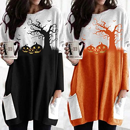 2020 Womens Halloween Sweater with Pockets