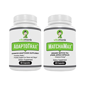 Adaptogen Blend and Matcha Capsules Combo - Mr  Zen Stack - Organic  Japanese Matcha Pills and our