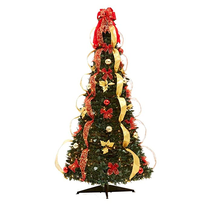 Fully Decorated Collapsible Christmas Tree