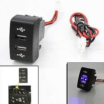 24v Dash Dual Usb Port Insert Charger Outlet Led For MAN TGA TGS TGL TGX TGM