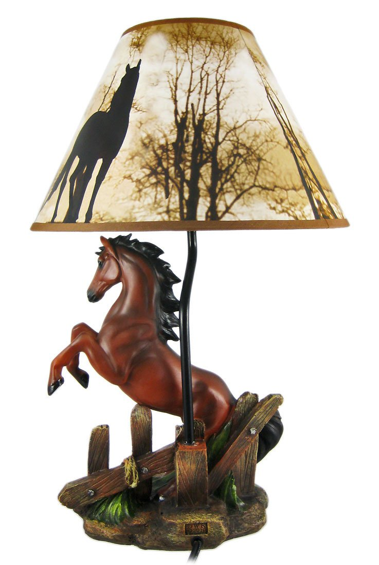 Resin table lamps brown stallion horse table lamp wnature print resin table lamps brown stallion horse table lamp wnature print shade 12 x 185 x 12 inches brown amazon aloadofball Image collections