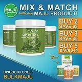 MAJUs Organic Moringa Powder: NON-GMO, Guaranteed Purest, 100% Raw Moringa by Maju Superfoods