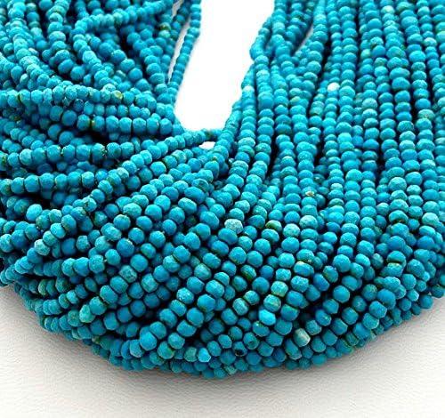 Turquoise Africaine Perles à Facettes Rondelle 6x4 mm Pierre Précieuse Brins