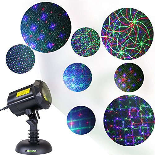 LedMAll® Motion 8 Patterns in 1 RGB Outdoor Garden Laser Christmas Lights with RF Remote Control and Security Lock