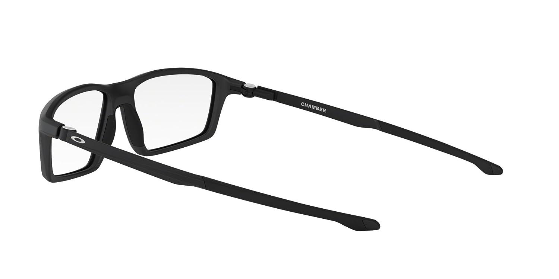 e70bba98197 Oakley CHAMBER OX8138-813801 Eyeglasses SATIN BLACK 55mm at Amazon Men s  Clothing store