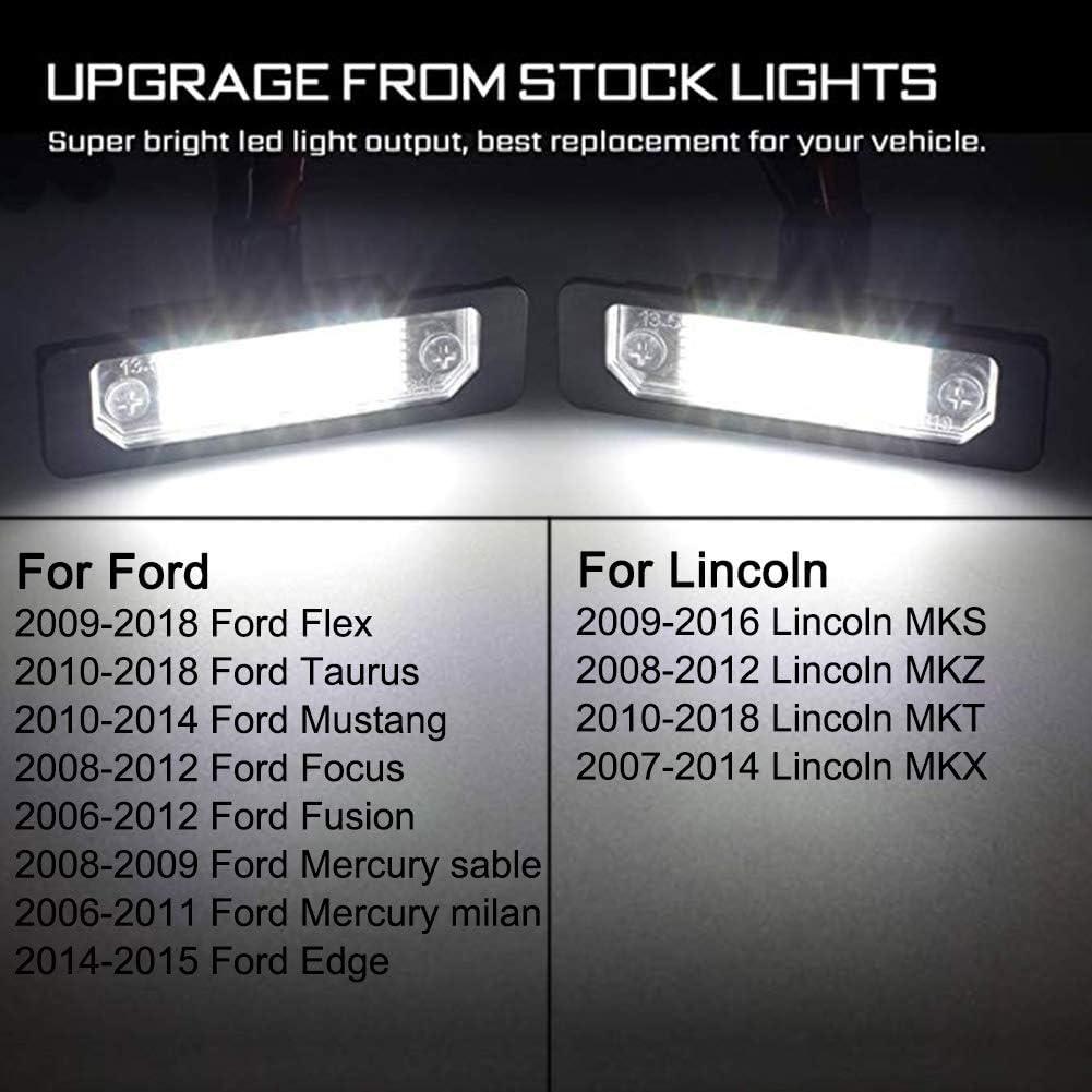 2pcs White LED License Plate Light Car Number Lamp Assembly RedSMD Tube Light Running Lamp For 1999-2016 Ford F-150 F-250 F-350