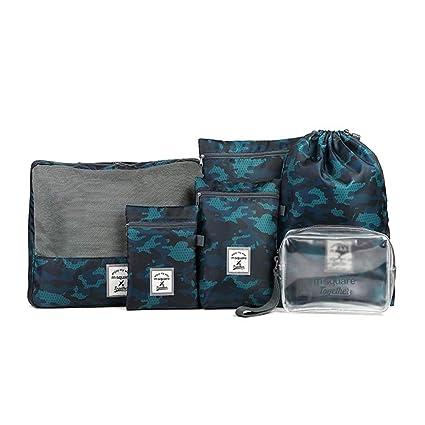 821261efb8d1 Amazon.com : sarazong Packing Cubes, Set of 6 Luggage Organisers ...