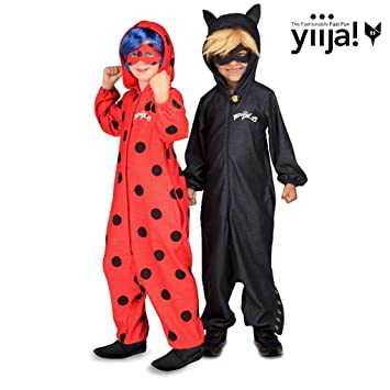 Disfraz de Cat Noir Pijama de Miraculous Ladybug con peluca para niño