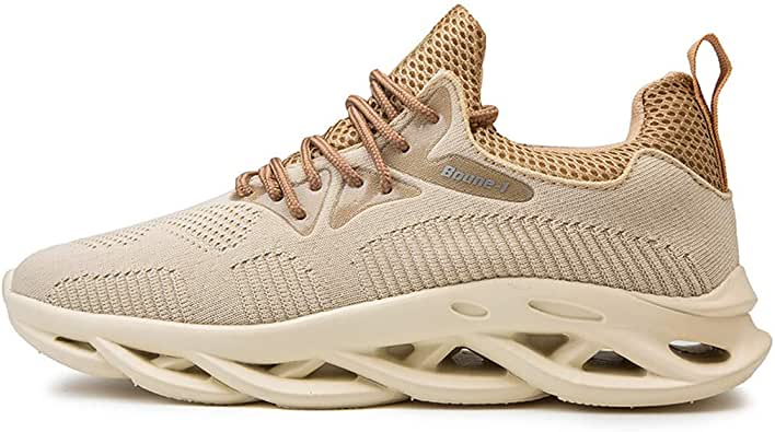 KUNAW BOUNE-1 - Zapatillas de Running para Hombre, Transpirables, Estilo Salvaje, Casual, para Deportes al Aire Libre, Caminar, Beige (Beige), 41 EU: Amazon.es: Zapatos y complementos