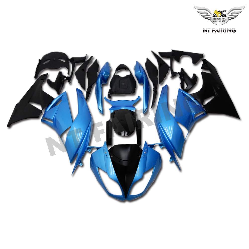 NT FAIRING Light Blue Black Fairing Fit for KAWASAKI NINJA 2009-2012 ZX6R 636 New Injection Mold ABS Plastics Bodywork Body Kit Bodyframe Body Work ...