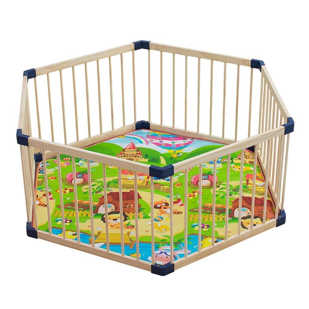 最上の品質な ベビーフェンス 幼児の遊び場遊び場、木製の子供の遊び場 B07Q4GK99Q、屋内、ベビーフェンス遊び場六角形のベッドレール B07Q4GK99Q, BizON(ビズオン)(bizon):93b59b32 --- a0267596.xsph.ru