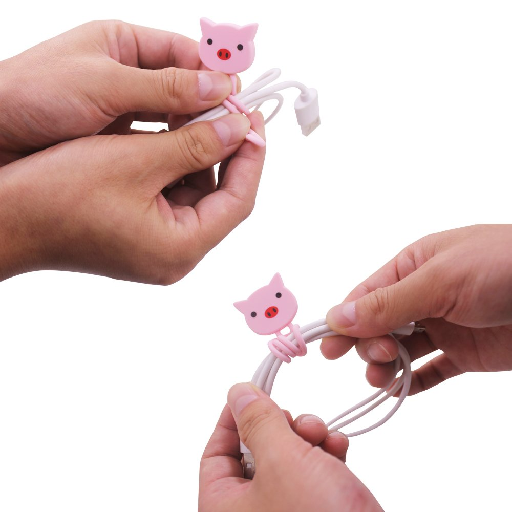 6pcs Cartoon Earphone Cable Winders, Maxin Cable Tie Cord Organizer, Cute Cartoon Animal Cable Manager Cord Keeper.