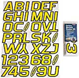 Hardline Products YEBLK700 Yellow/Black Factory Matched Registration Number Kit