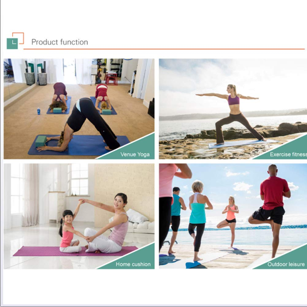YCKZZR Estera De Yoga, Esterilla De Fitness, Goma Natural ...