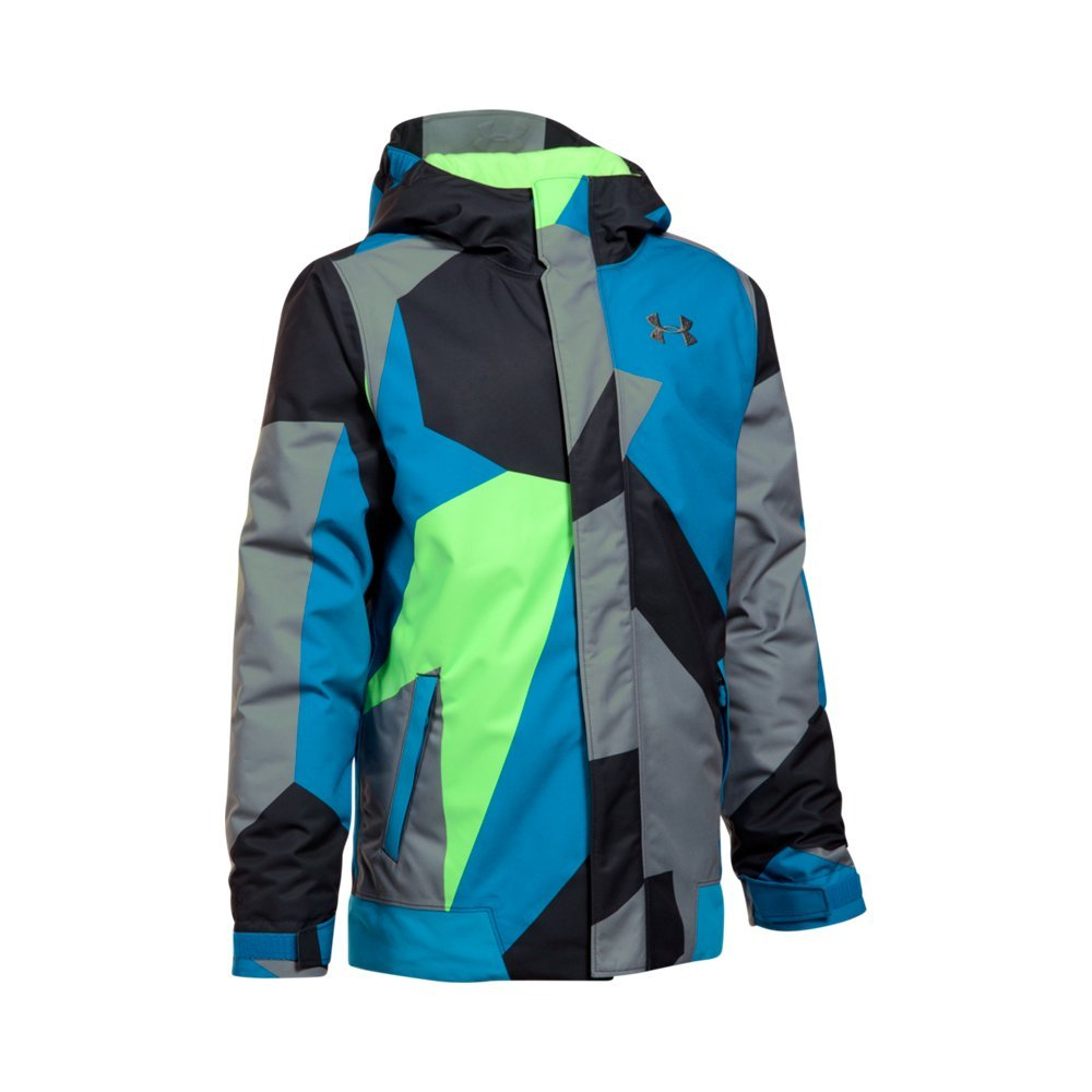 Under Armour Boys' Storm Powerline Insulated Jacket, Quirky Lime/Quirky Lime, Youth Large