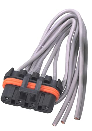 APDTY 084514 Blower Motor Resistor Kit w/Wiring Harness Pigtail Fits on