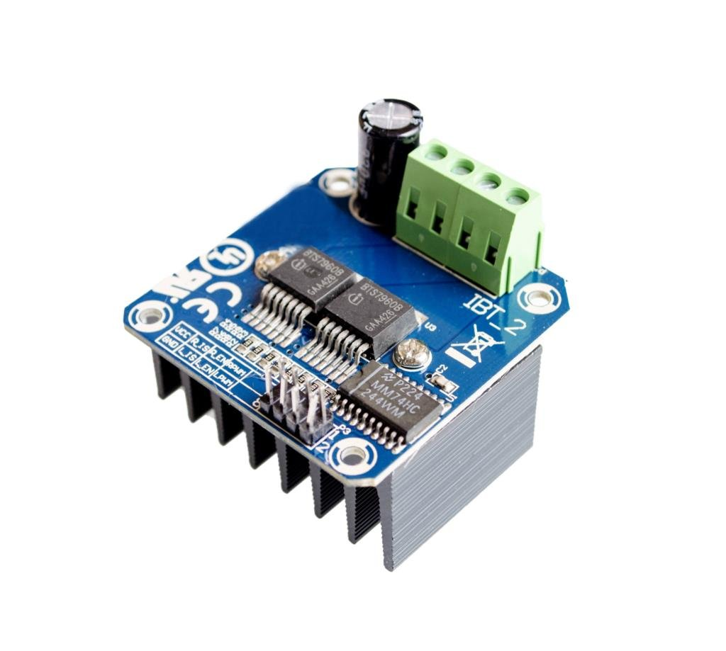 Double BTS7960 43A H-Bridge High-Power Motor Driver Module//Smart car//