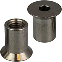 25 stuks hulsmoeren M3 X 7 met verzonken kop en binnenzeskant roestvrij staal A1