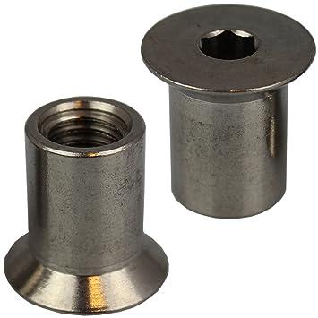 Beliebt 1 Stück Hülsenmutter M12 X 20 mit Senkkopf u. Innensechskant PF11