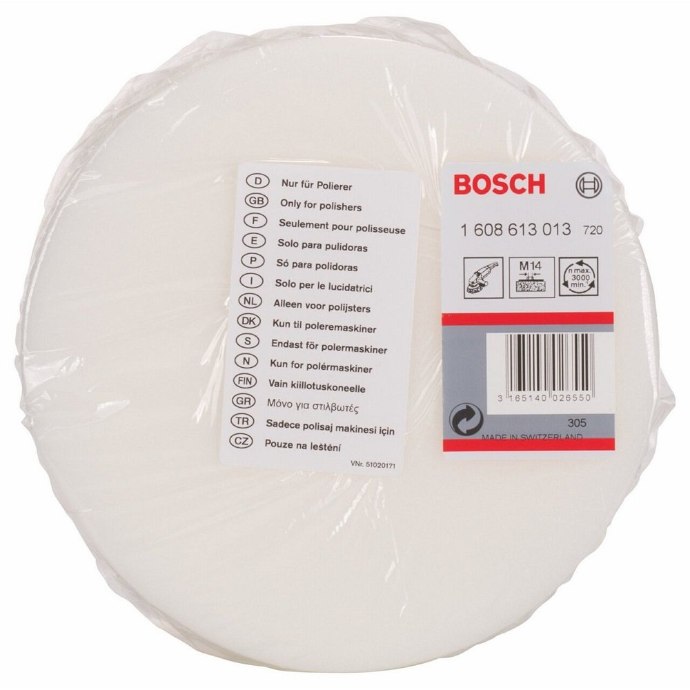 Bosch 1 608 613 013 Éponge à polir Filetage M 14 160 mm Bosch Professional 1608613013