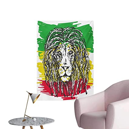 Amazon Com Anzhutwelve Rasta Wall Picture Decoration Ethiopian