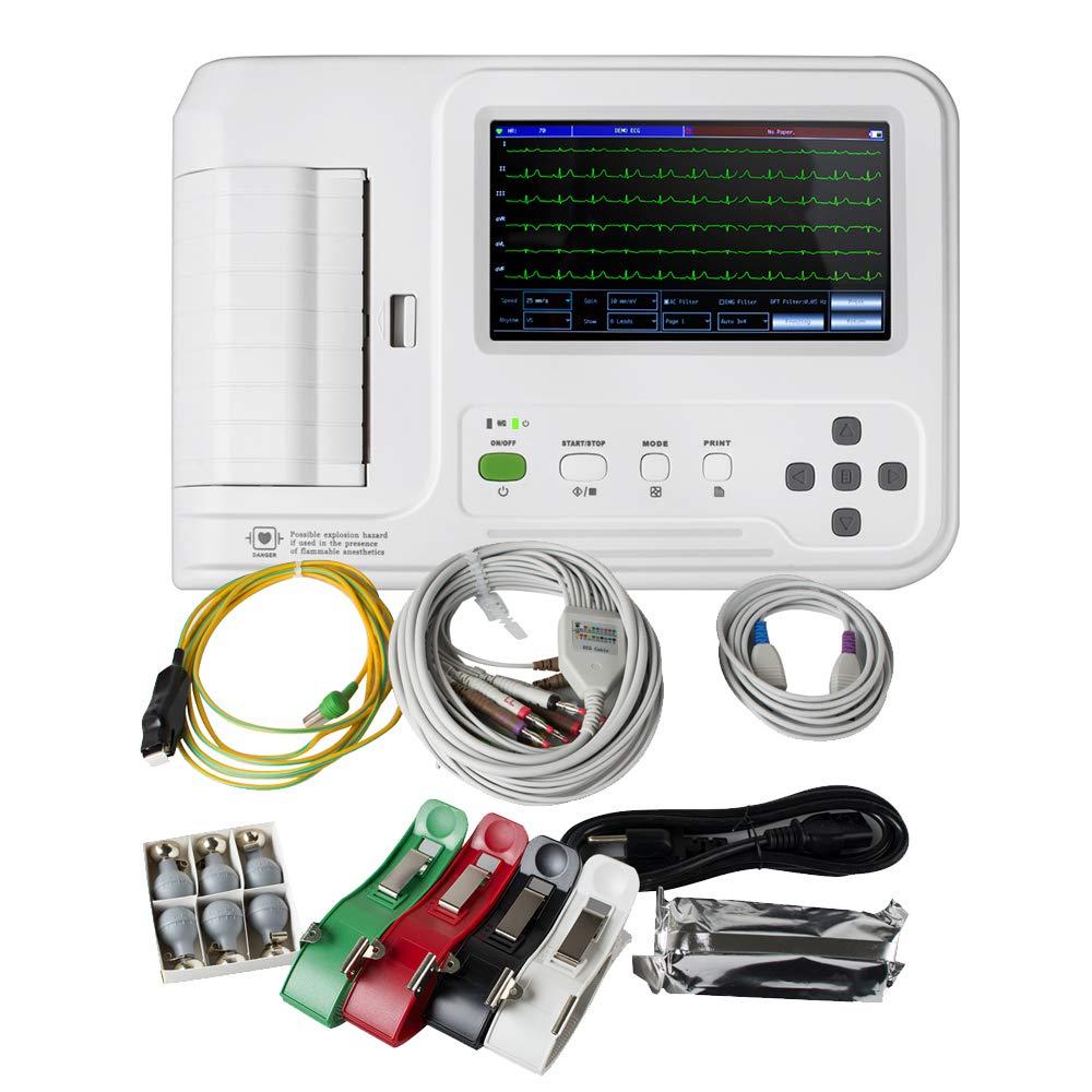 Denshine Electrocardiografo Digital Portátil de 6 Derivaciones con Software