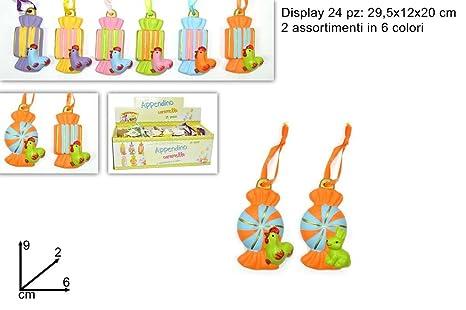 24 unidades Perchero caramelo de 6 colores Pascua decoración ...