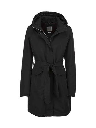 Geox W7420D T0351 Coat Women Black 44 B076V9QQZG