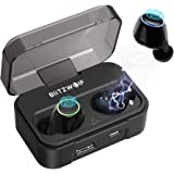 Cuffie Bluetooth, BlitzWolf 2600mAh Bluetooth V5.0 IPX6 Impermeabile True Wireless Auricolare 20H Tempo di Gioco con Touch Control e Scatola di Ricarica per iPhone, Samsung