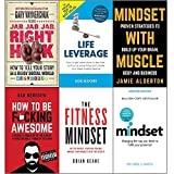 img - for Jab, jab, jab, right hook, life leverage, mindset with muscle, how to be fucking awesome, fitness mindset and mindset carol dweck 6 books collection set book / textbook / text book