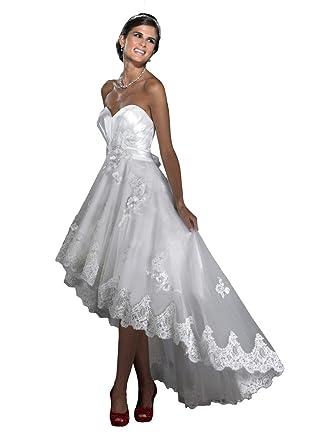 JoyVany Sweetheart High-Low Wedding Dresses 2018 Short Lace Wedding ...