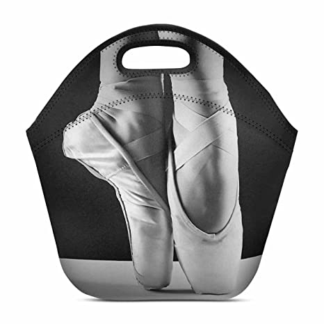 422419fbdfd6 InterestPrint Elegant Ballet Shoes Ballerina's Pointes Neoprene Lunch Tote  Insulated Reusable Picnic Lunch Bags Boxes for Men Women Adults Kids 11.93