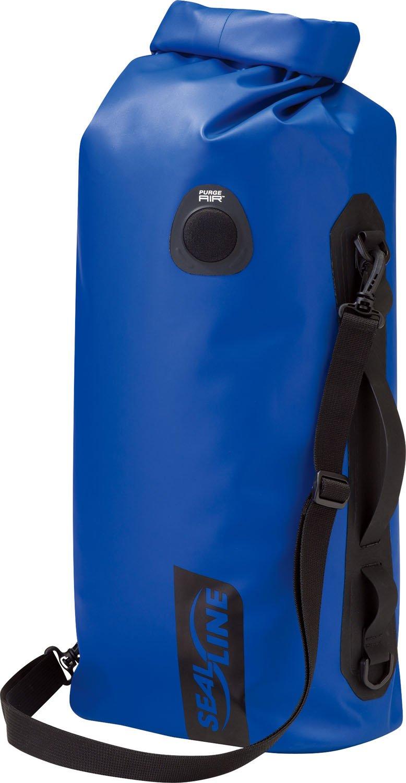 SealLine Discovery Deck Waterproof Dry Bag with PurgeAir, Blue, 20-Liter