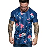 Men's T-Shirts Casual Slim Fit Short Sleeve V