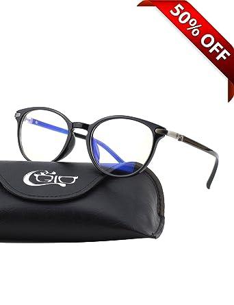 CGID CT32 Premium TR90 Frame Blue Light Blocking Glasses,Anti Glare Fatigue  Blocking Headaches Eye