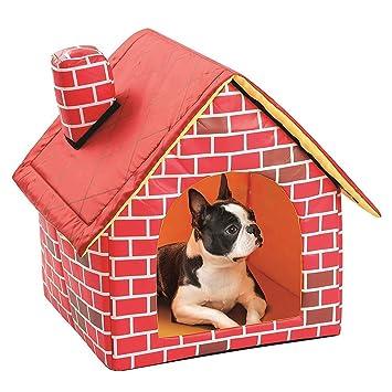Accesorios para Mascotas-Casa de Mascotas - Ladrillo Rojo extraíble y Lavable Mascota Nido de