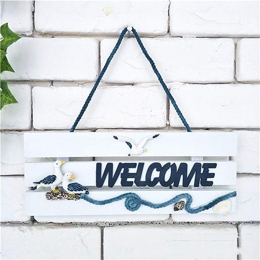 Cartel de bienvenida Decoración de la pared hecha a mano ...