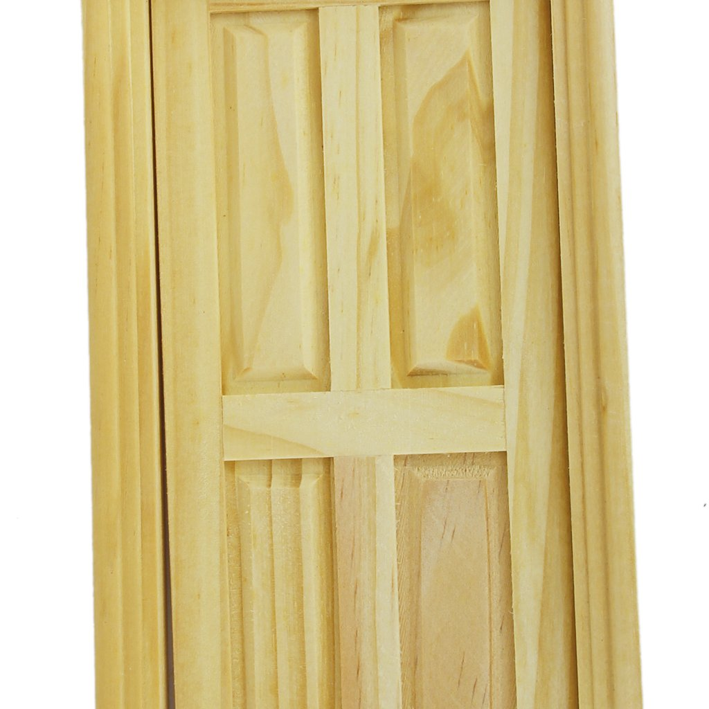 Amazon.com: Exterior Solid Wood Door With Steepletop 1/12 Dollhouse  Miniature By Generic: Toys U0026 Games
