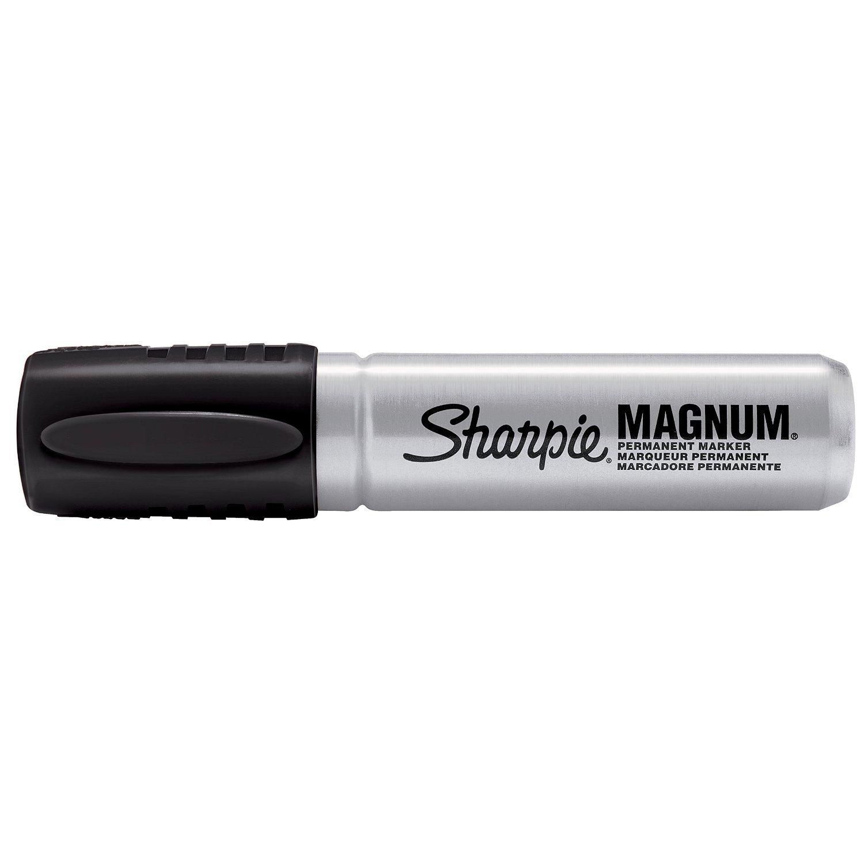 Sharpie Magnum Permanent Marker Jumbo 5/8'' Chisel Tip Black 72 Markers 44001