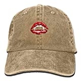 Sexy Lip Adult Cowboy Hat Baseball Cap Adjustable Athletic Creating Unique Hat for Men and Women