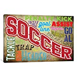 iCanvasART POG10-1PC6-60x40 iCanvas Soccer Slang Gallery Wrapped Canvas Art Print by 5by5collective, 40'' X 1.5'' X 60''