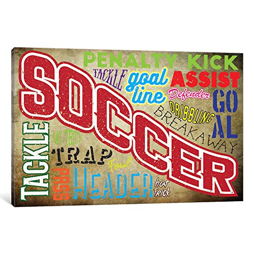 iCanvasART POG10-1PC3-40x26 iCanvas Soccer Slang Gallery Wrapped Canvas Art Print by 5by5collective, 26'' X 0.75'' X 40'' by iCanvasART