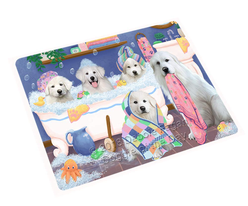 Rub A Dub Dogs in A Tub Great Pyrenees Dog Blanket BLNKT130557 (50x60 Plush)