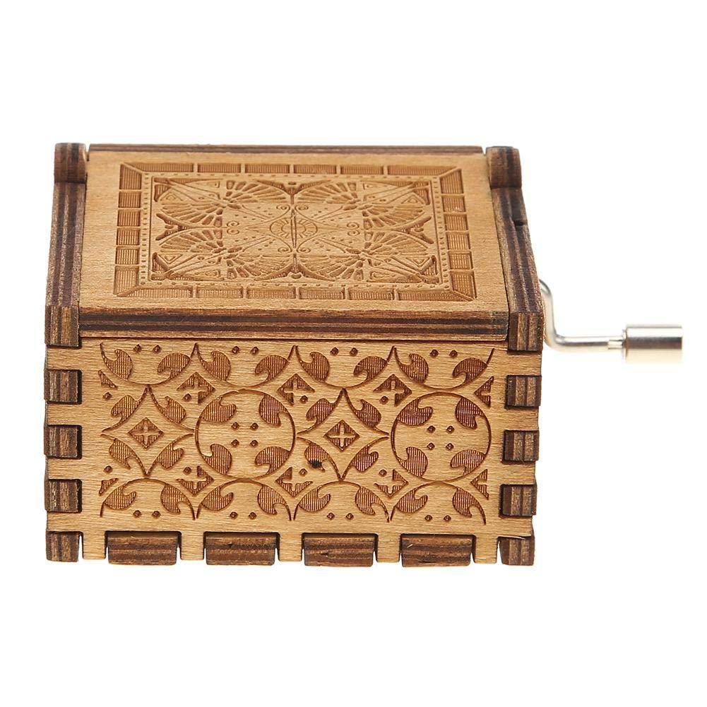 NELNISSA Gl/ückliche Geburtstage Spieldosen Holz Handkurbel Spieluhr antik Geschnitzte Geburtstagsgeschenke Home Decor Kamel