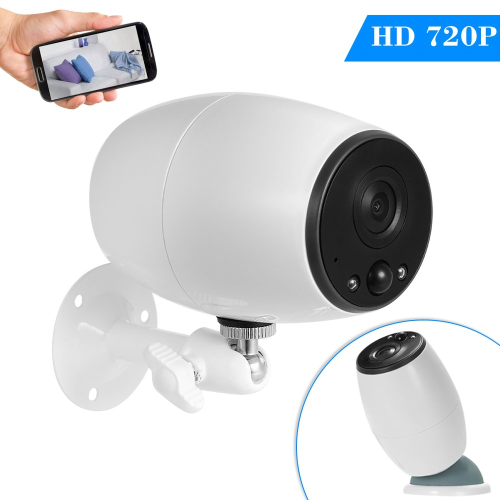 OWSOO 720P Wireless WiFi IP Security Surveillance Camera Low Power Consumption Battery Support PIR Function Long Standby TF Card Storage Two Way Audio Phone APP Remote View(Batteries are not included)