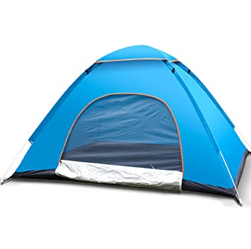 buy popular e9271 78957 QYXANG Pop up Tent Outdoor Automatic Portable Beach Tent Two ...